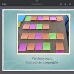 Skärmbild på digitalt storyboard.