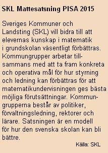 Fakta SKL Mattesatsning.