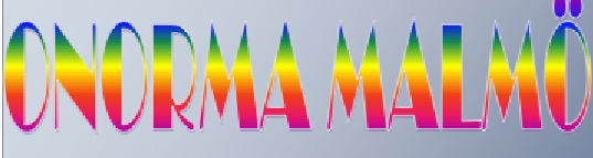 Regnbågsfärgade bokstäver.