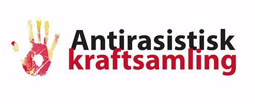 """Handavtryck och texten """"Antirasistisk kraftsamling"""""""