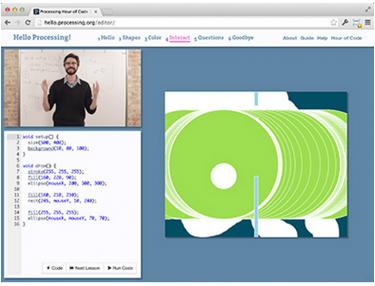 Skärmbild från processing.org