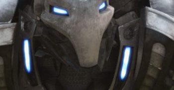 Robot med lysande ögon.
