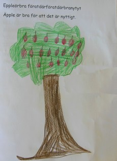 Tecknat träd.