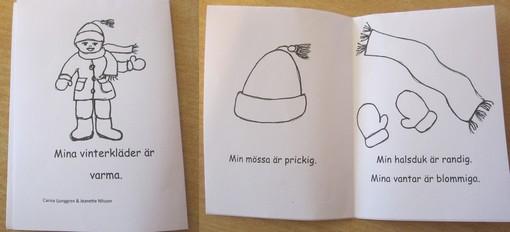 Figurer som barnen kan färglägga.