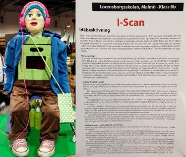 Stor docka bredvid text om i-scan.