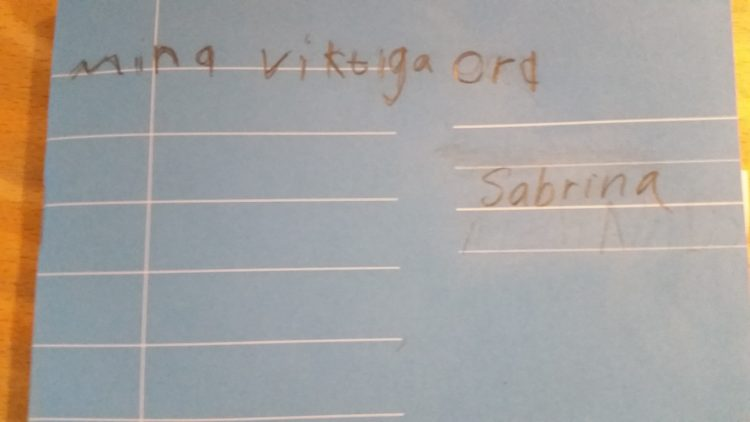 Omslaget till en elevs skrivhäfte.