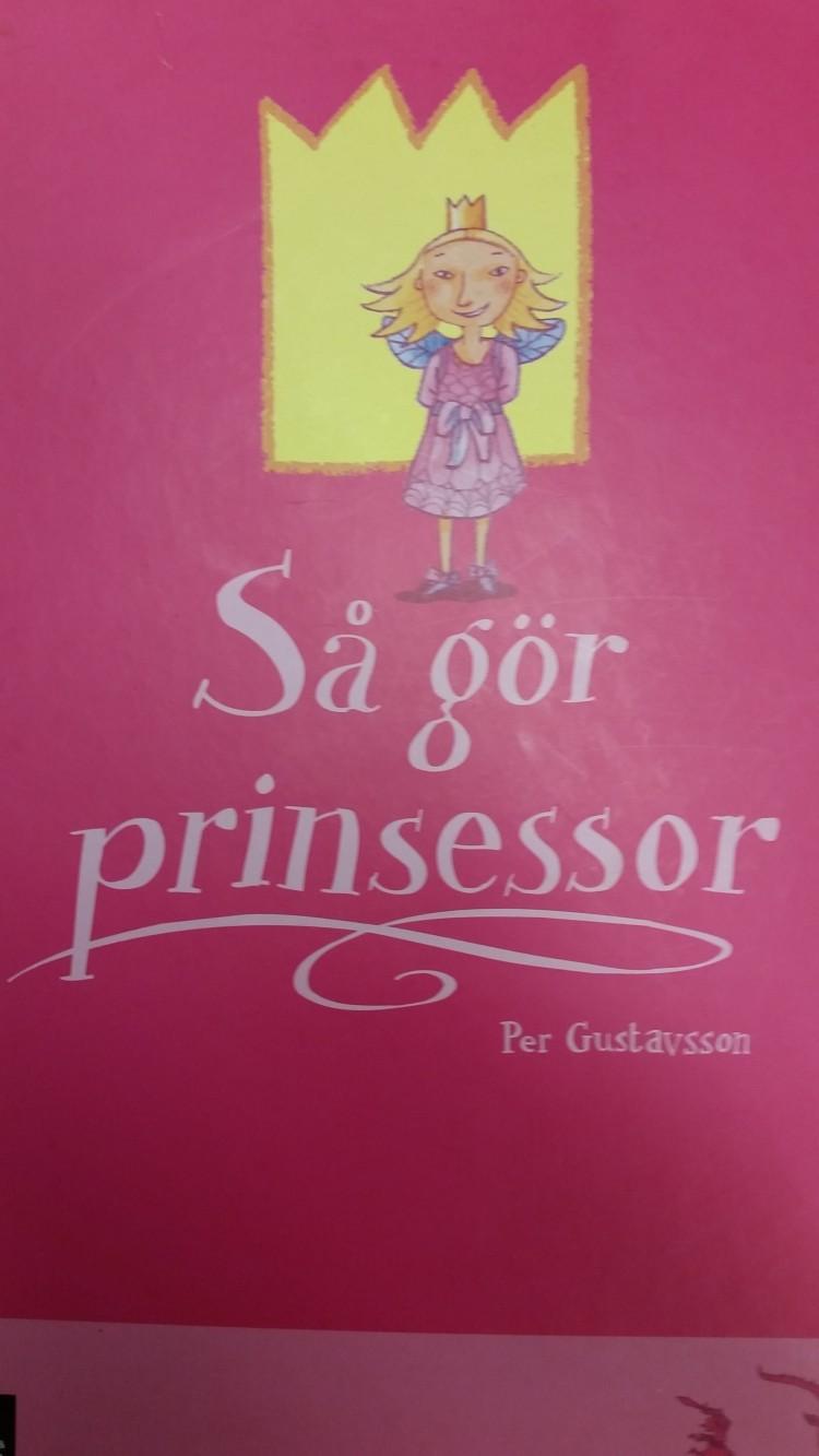 """Omslaget till boken """"Så gör prinsessor""""."""