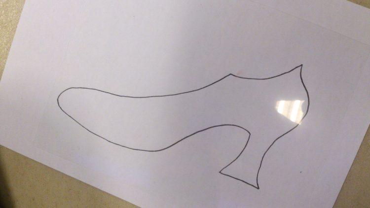 Teckning av en sko.
