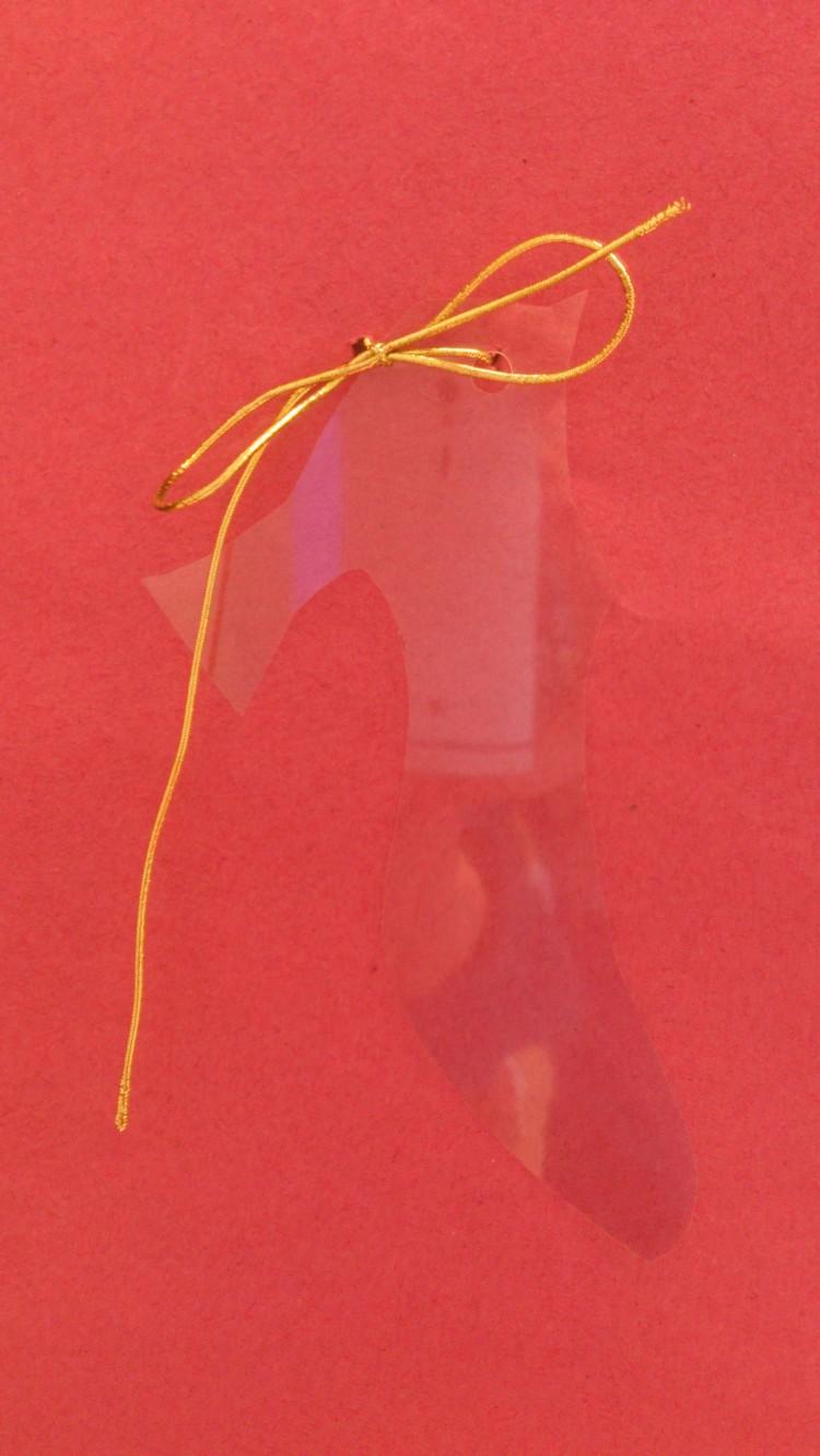En avbildning av Askungens sko.
