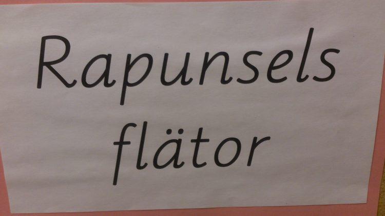 """Texten """"Rapunsels flätor""""."""