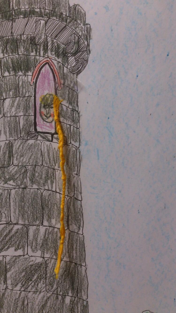 Teckning av torn.
