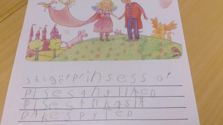 Barns text om boken.