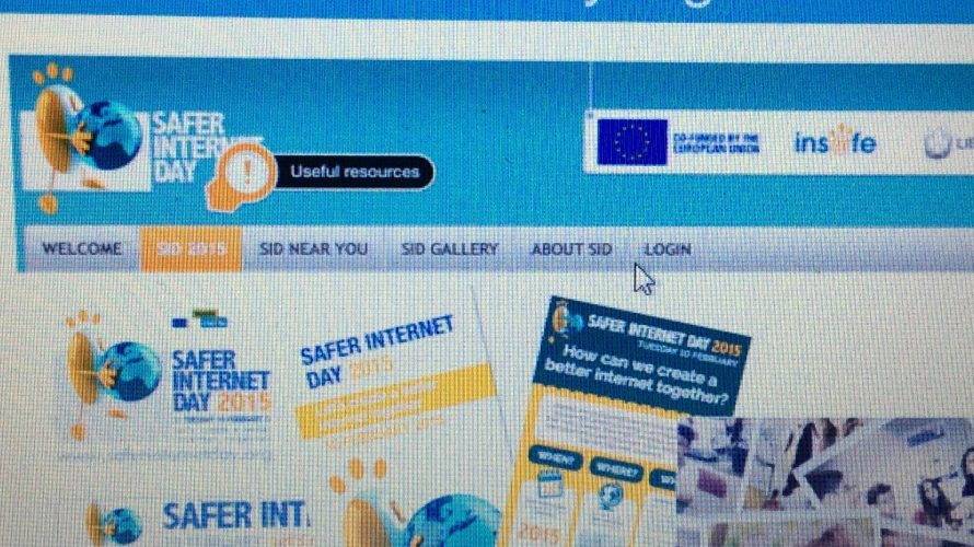 Safe internet days hemsida.