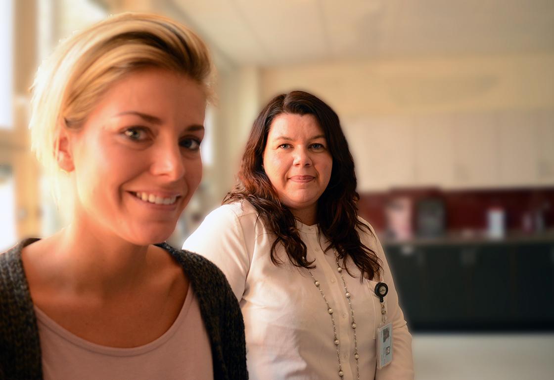 Åsa Garellick och Josefine Sjöstrand.