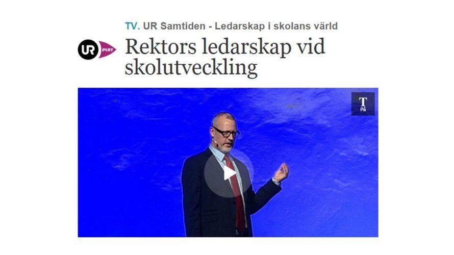 Skärmavbild från film om rektors ledarskap.