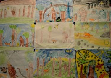 Barns teckningar.
