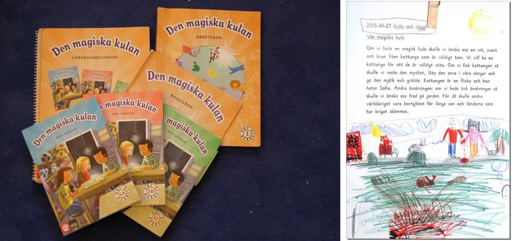 """Böcker i serien """"Den magiska kulan""""."""