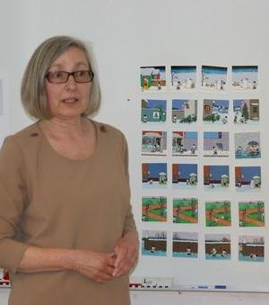 Anne-Marie med sekvenskort.