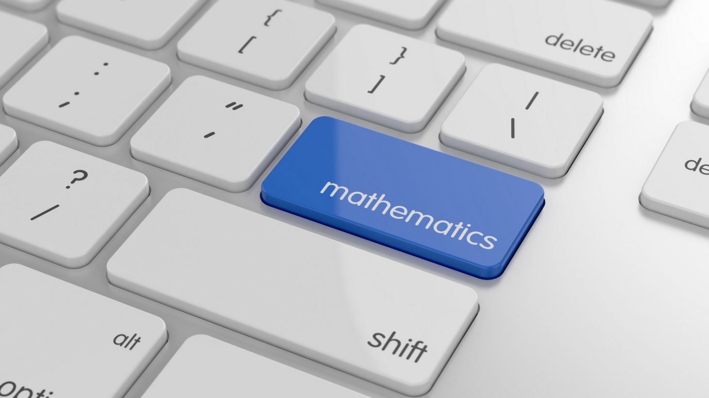 Knapp på tangentbord där det står matematik.