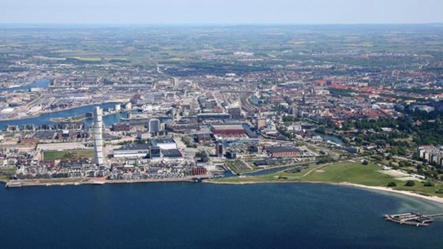 Malmö från ovan.