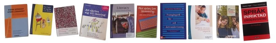 Omslag till olika böcker om ASL.