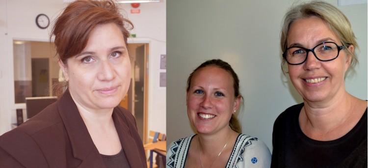 Antonia Travesett, Lisa Karlberg och Moa Nyman.