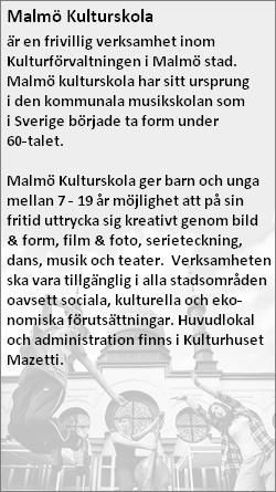Fakta om Malmö kulturskola.