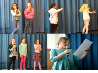 Barn sjunger och uppträder.