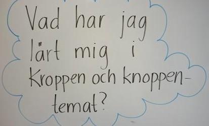 Fråga på whiteboard.