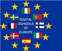 Europaflagga med flaggor inuti.