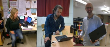 Maria, Fredrik och Andrew, språkintroduktionen Agnesfrids Gymnasium.