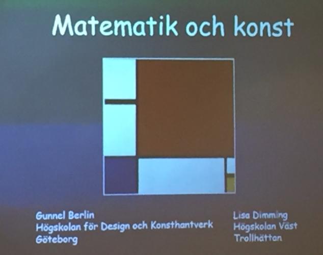 Presentation om matematik och konst.