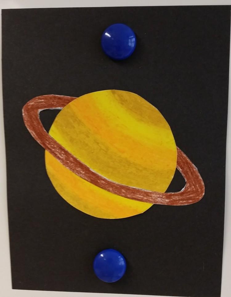 Teckning av Saturnus.