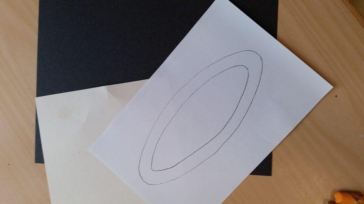 Teckning av cirkel.