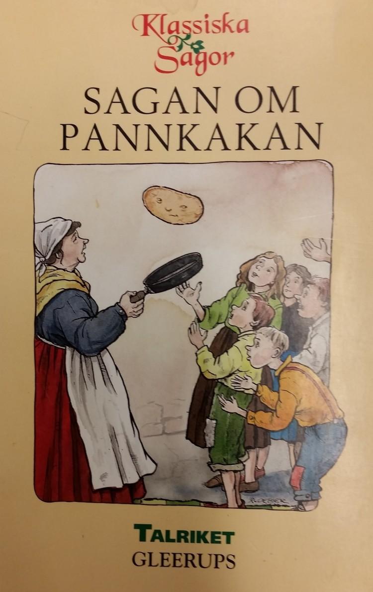 Bokomslag till sagan om pannkakan.