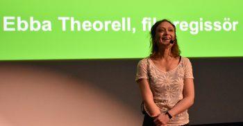 Ebba Theorell föreläser.