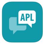 Logotype för APL.