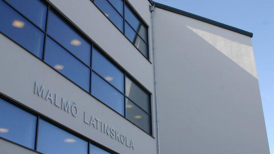 Exteriör på Malmö Latinskola.