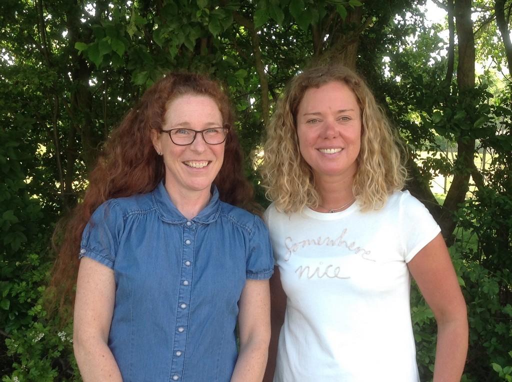 Katarina Fornell och kollega.