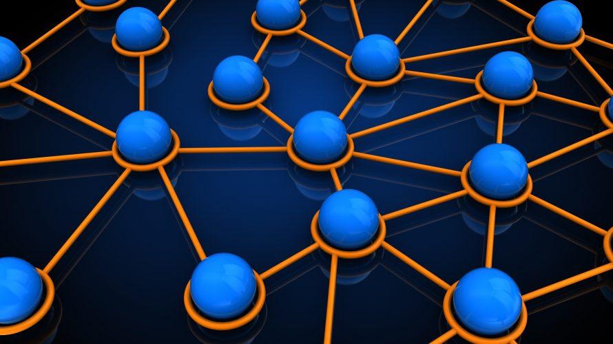Illustration av nätverk av bollar.