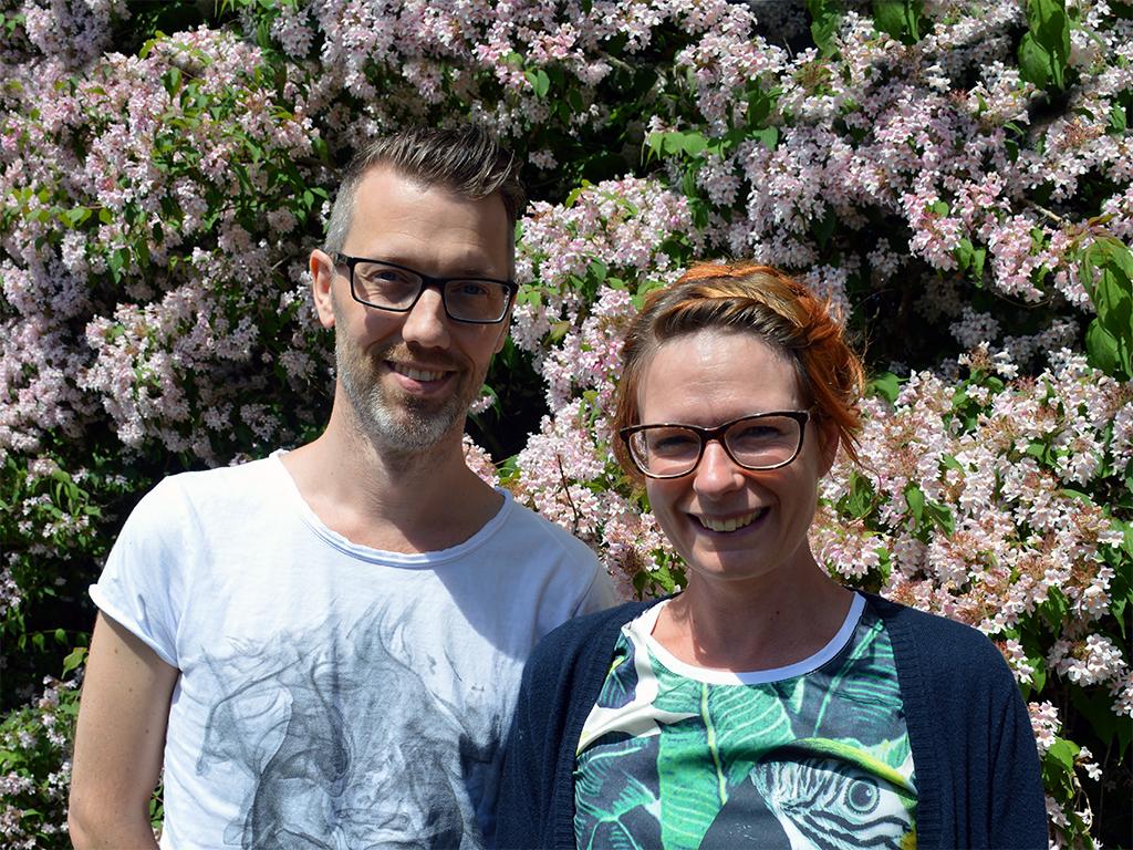 Porträtt av Tobias och Camilla.