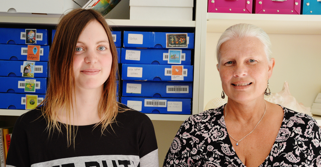 Hanna Ohrberg och Anette Larsson inne på Pyrets förskola.