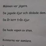 Text om jägare och samlare.