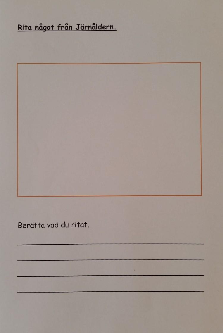 Instruktion för att rita och berätta om järnåldern.
