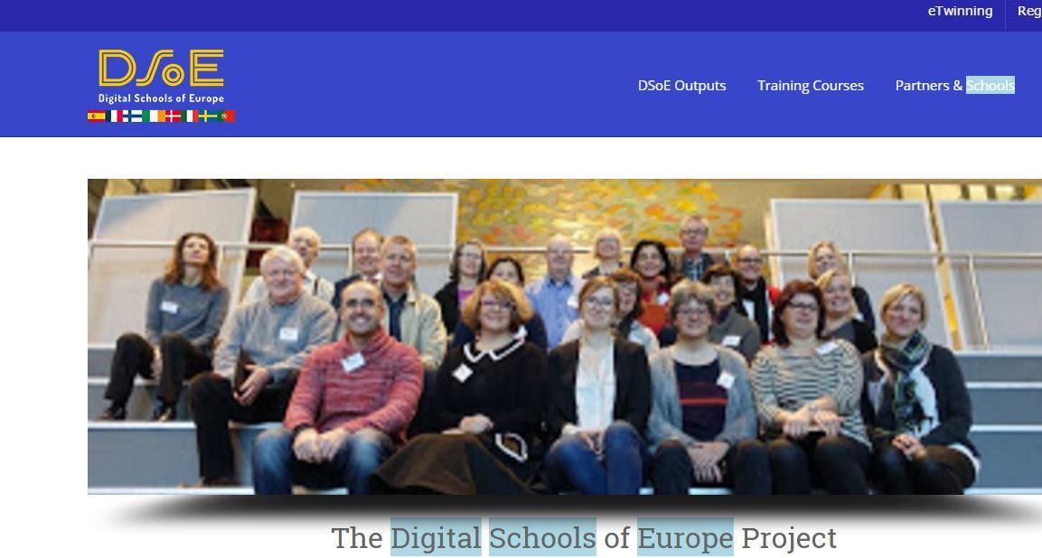 Skärmbild av DSOE:s hemsida.