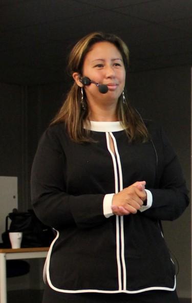 Madeleine Romero föreläser.