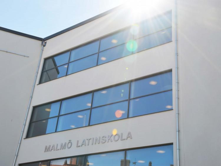 Malmö latinskolas fasad.