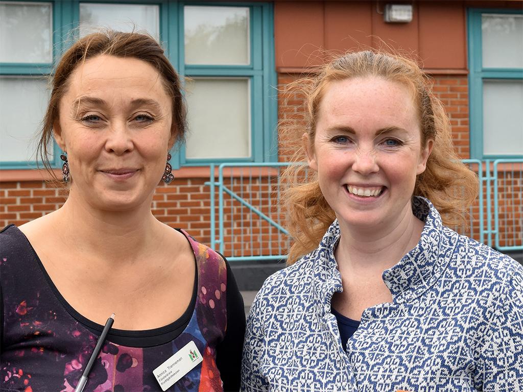 Annika Trenneman och Caroline Sjölin.