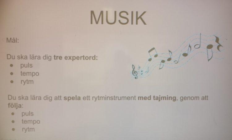 Text om musik.