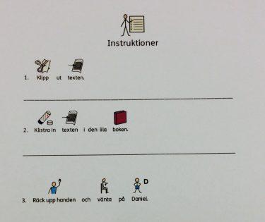 Bildstöd visar instruktioner.